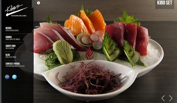 Kibo restaurant and lounge webdesign inspiration