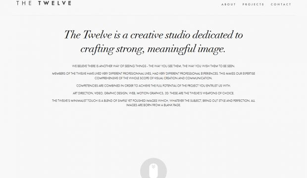 The Twelve is a creative studio dedicated to crafting strong meaningful image