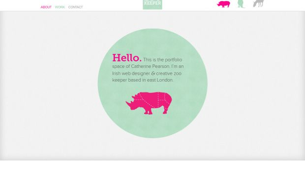 Portfolio of Catherine Pearson - Web Design and Zoo Keeping
