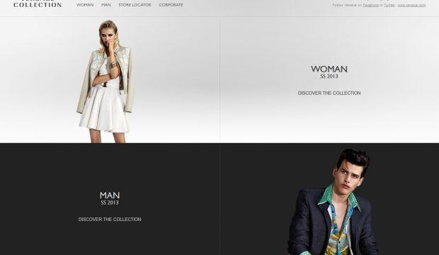 Versace Collection International Fashion Brands Webdesign Inspiration
