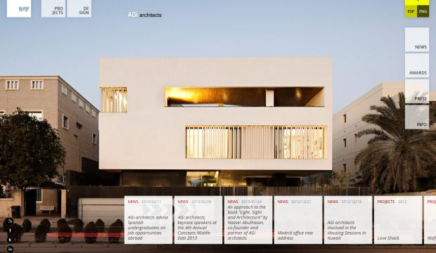 AGi architects international design firm Webdesign inspiration