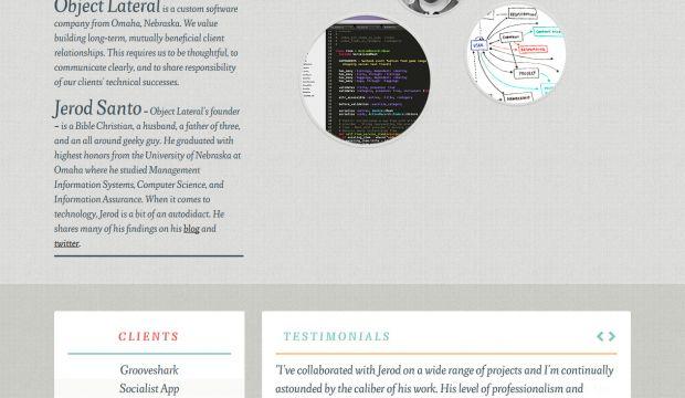Object Lateral Is A Custom Software Company Webdesign Inspiration Www Niceoneilike Com