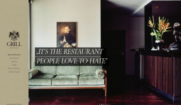 Restaurant grill royal webdesign inspiration