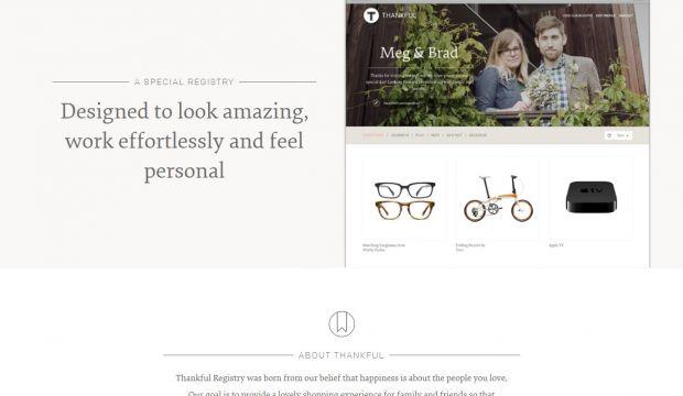 Wedding Gift Website: Webdesign Inspiration