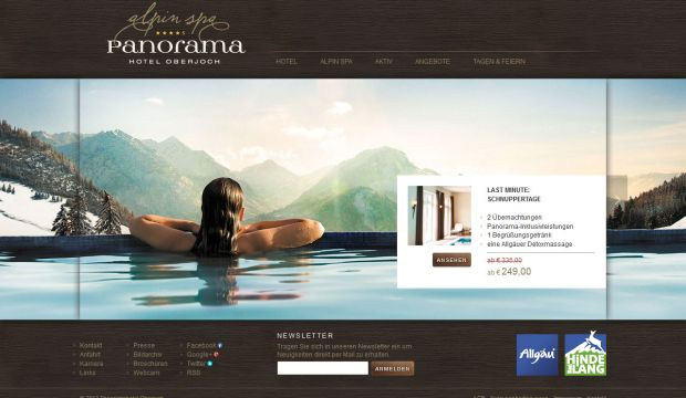 Panoramahotel oberjoch 4 star superior spa hotel for Hotel web design