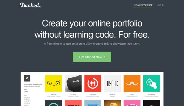 Create A Free Online Portfolio Website - Dunked - Webdesign ...