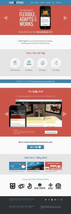 Hub and Spoke - web design graphic design and email marketing