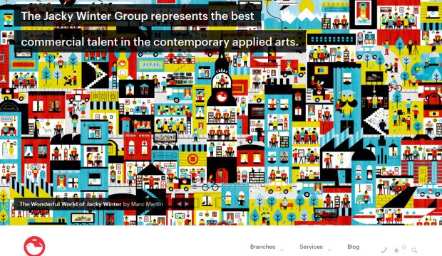 The jacky winter group webdesign inspiration www for Winter design group
