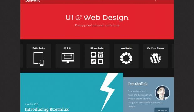 Stormlux - UI and Web Design - Webdesign inspiration www
