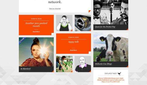 Creative home page inspiration