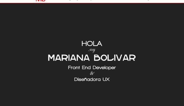 Portfolio of Mariana Bolivar - front-end development