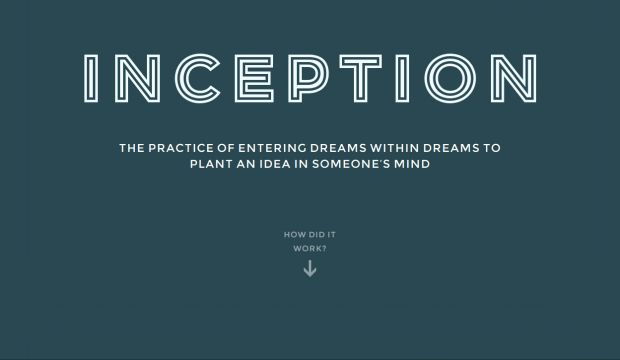 Inception Explained - An interactive animated infographic ...