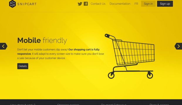 Snipcart - Effortless Shopping Cart for new or existing websites using any CMS