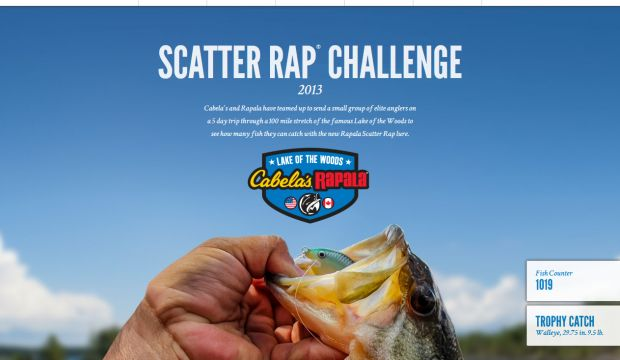 Scatter Rap Challenge 2013 - Cabelas and Rapala