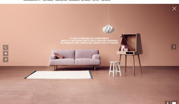 bolia and furniture webdesign inspiration