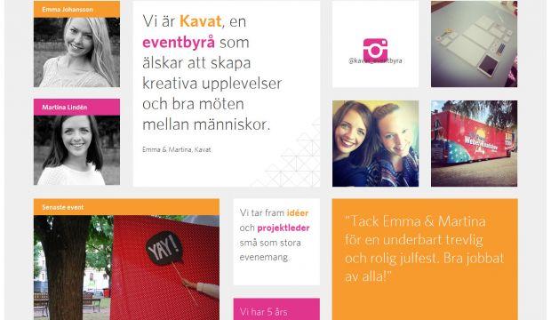 Event Calendar Design Inspiration : Kavat events and marketing webdesign inspiration
