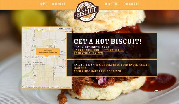Ozark mountain biscuit food truck serving southern style for Cuisine site