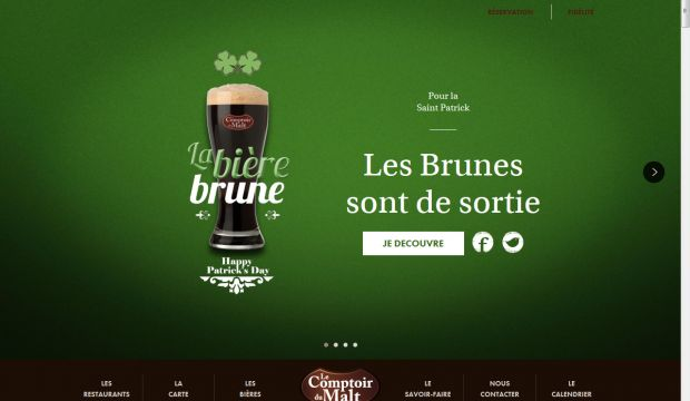 The official page of comptoir du malt webdesign inspiration - Comptoir du malte amiens ...