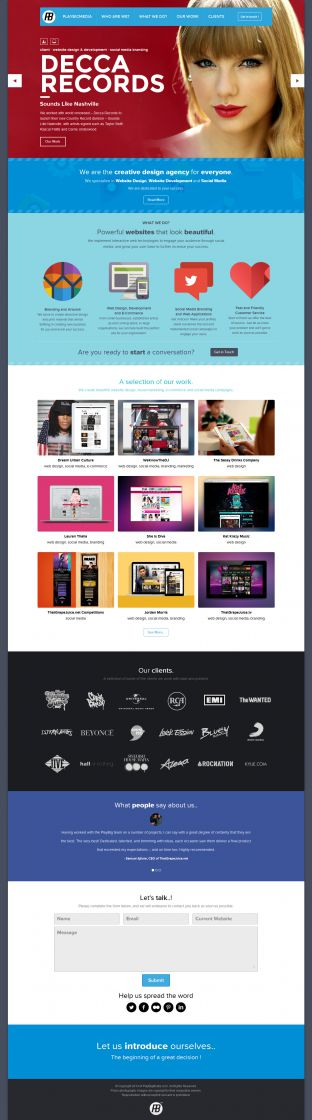 PlayBigMedia creative design agency - website design and development