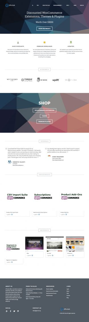 GPLclub - Premium WordPress and WooCommerce Themes