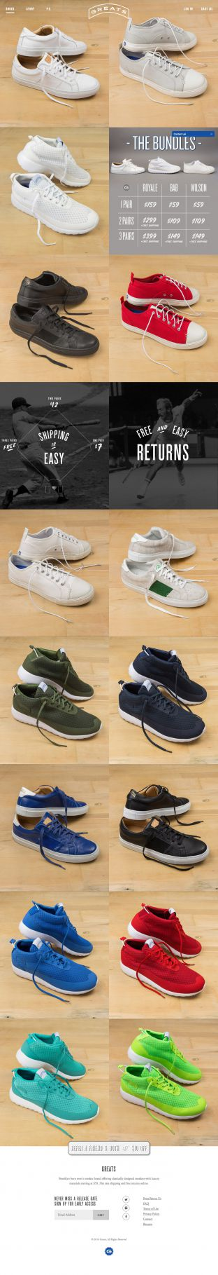 Designer Quality Mens Sneakers and Footwear - Greats