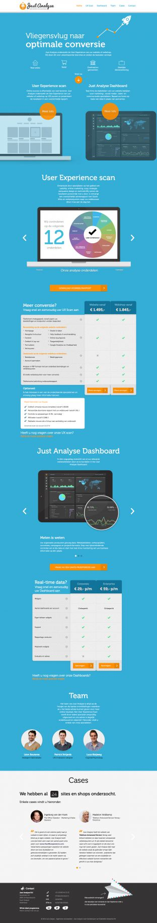 User Experience Scan voor webshops en websites I Real time data dashboard - Just Analyse UX Experts