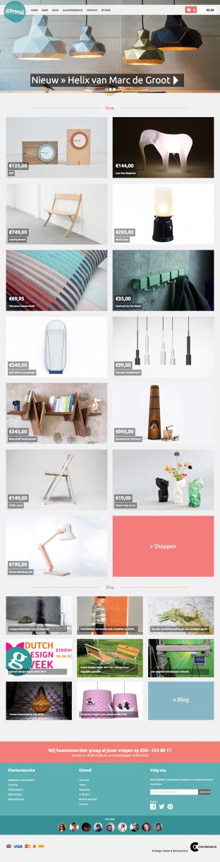 Online Dutch design shoppen - Gimmii