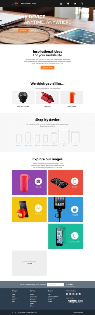 iPhone iPad and Android cases - speakers chargers and accessories - QDOS