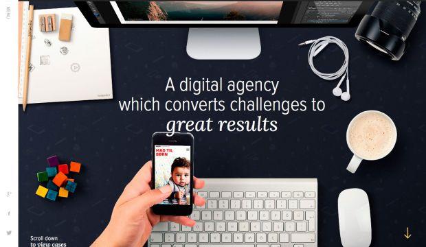 Sampedro - Digital agency - Webdesign inspiration www