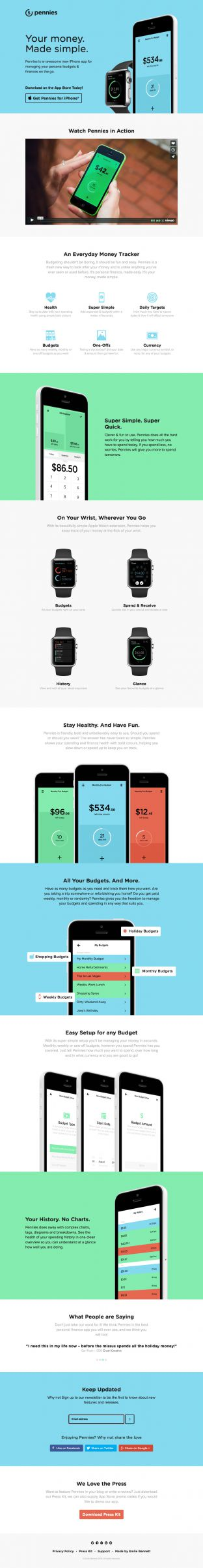 Pennies for iPhone - Personal Money and Finance Manager