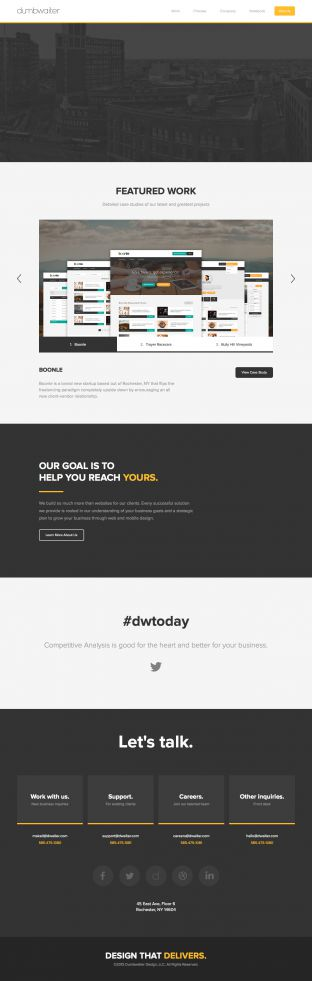 Dumbwaiter - A Full-Service Web Design and Development Firm
