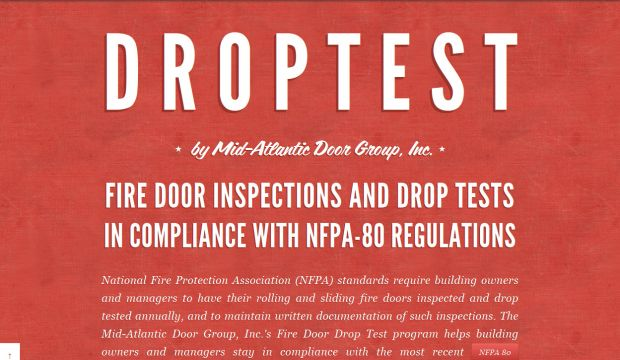 Fire Door Drop Test and Inspection Services