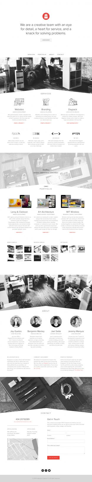 Knapsack Creative - Website Design and Development