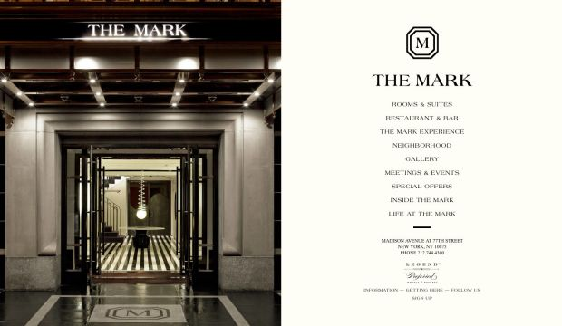 The mark hotel new york city luxury hotels webdesign for Hotel web design
