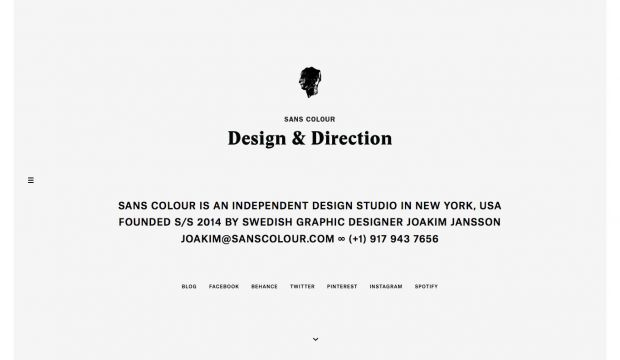 SANS COLOUR - is an independent design studio in New York