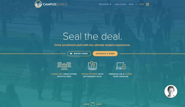 campus bubble 2016 webdesign inspiration www