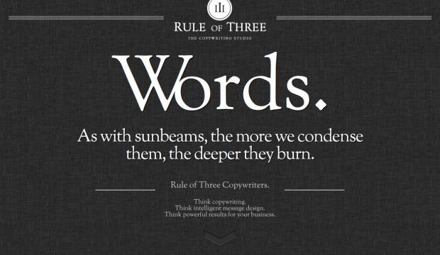 Rule of Three - The Copywriting Studio