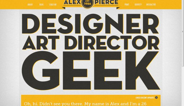 Alex Pierce Designer Art Director Webdesign