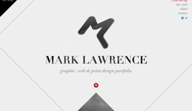Mark Lawrence Portfolio - Webdesign inspiration www.niceoneilike.com
