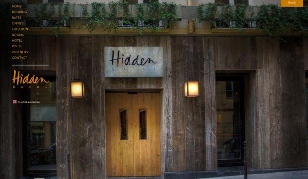 Hidden hotel paris luxury boutique hotel webdesign for Design boutique hotels paris
