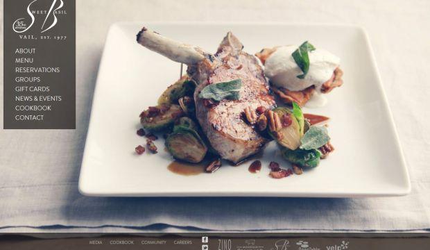 Sweet basil is a creative modern american restaurant